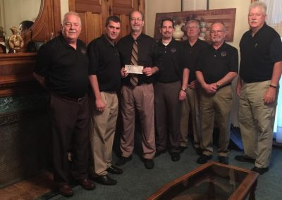 Elks present check to Mayor